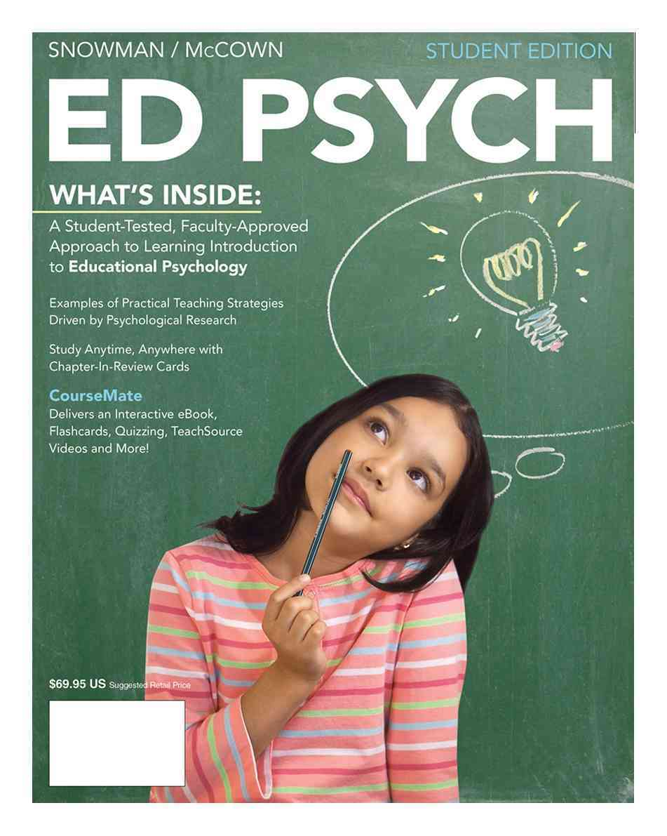 Ed Psych + Education Coursemate With Ebook Printed Access Card By Snowman, Jack/ McCown, Rick